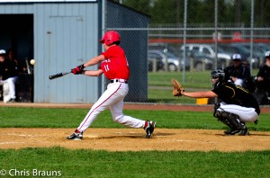 Jake McKnight turned on a Harvard fastball for a key post-season hit for the Stillman Valley Cardinals.