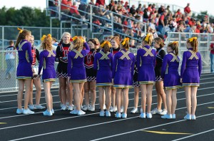Cheerleaders from Mendota greet the sophomore cheerleaders.