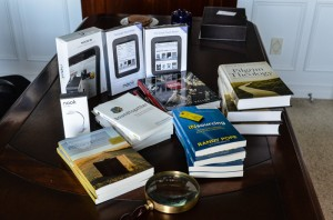 You can win one of several Nook e-readers or some great reading.