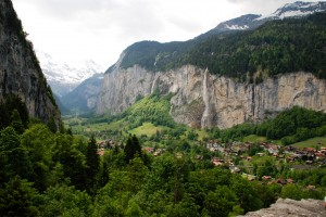 The Lauterbrunnen Valley in the Swiss Alps