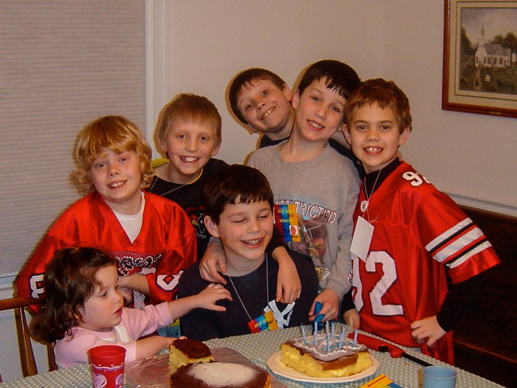 The Vanbriesen brothers are on the left and right sides of this birthday party picture from 2005.