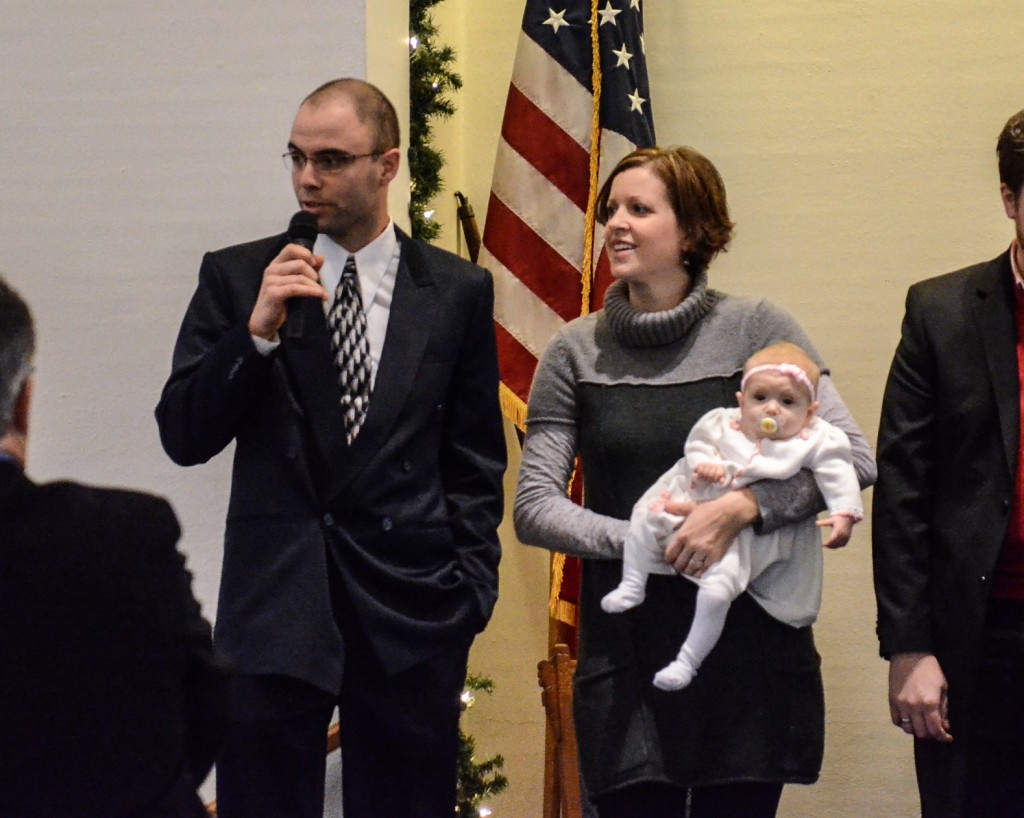 Baby dedication at the Red Brick Church in Stillman Valley